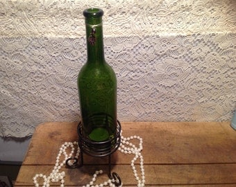 Wine Bottle with Tealight Holder