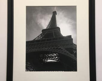 Eiffel Tower Matted and Framed Photography Print