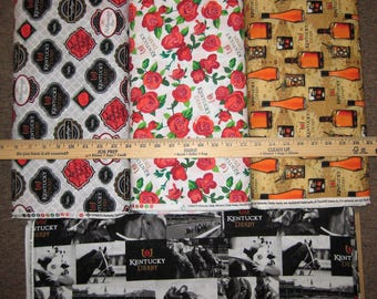 Kentucky Derby Cotton Fabric by Springs Creative! 4 Options [Choose Your Cut Size]