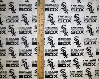 Chicago White Sox MLB 6636B White Logo Cotton Fabric by Fabric Traditions! [Choose Your Cut Size]