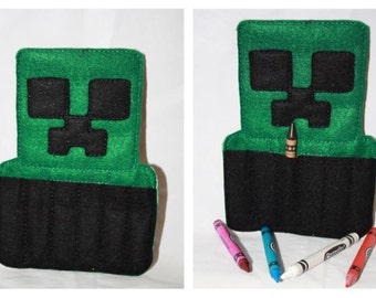 Minecraft crayon holder