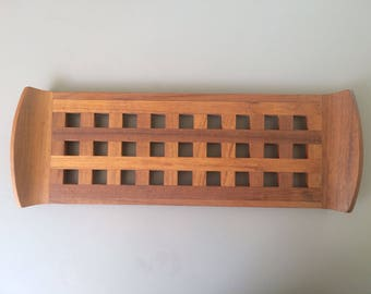 Dansk Lattice Design Teak Tray By Jens Quistgaard