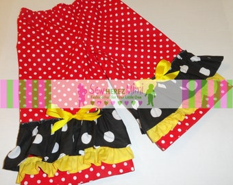 Minnie Mouse Inspired RUFFLE PANTS Infants, Toddlers, Children thru Size 8