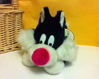 Sylvester The Cat Plush Bugs Bunny Cartoon Character Plush Stuffed Animal Cat 24K Special Effects by Warner Bros 1989