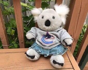 Build a Bear Workshop White and Gray Koala Bear Plush Stuffed Animal