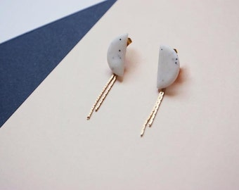Earrings Kupka · Long earrings · Earrings minimal · Outstanding wedding · Geometric earrings · Jewelry designer