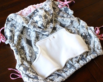 Contoured Babywearing Cozy Cover - Baby Carrier Cozy - Baby Carrier Cover - Stroller Cover - Babywearing Jacket - Fleece - Minky - Luxe