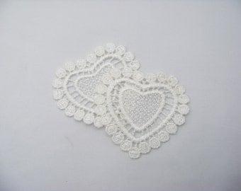 White Heart Appliques 4794