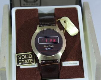 Vintage New Bulova N6 Quartz Digital Watch
