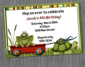 ON SALE!!  Frog Invitations