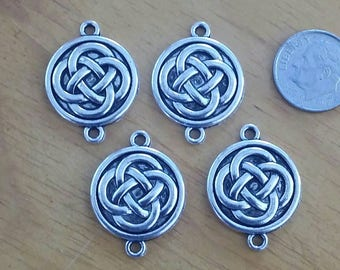 Wholesale 4 American Pewter Irish Celtic Knot Charms