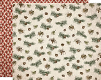 Carta Bella Scrapbook Paper - Pine Branches
