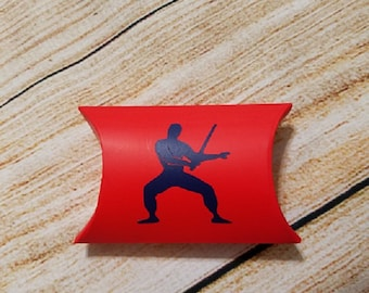 American Ninja Warrior Pillow Box Party Favors - Birthday Party Favor - Thank You - Party Treat - Gift Box - Favor Box - Ninja Birthday