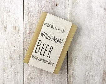 The Woodsman's Beer Soap, Organic Soap, Palm Free Soap, All Natural, Scented, Vegan, Handmade, Cold Process Soap, Wildflower Seed Paper