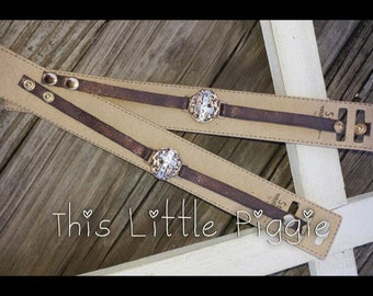 Hammered Cross Bracelets