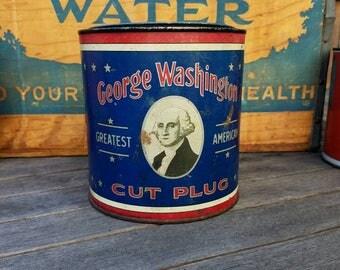Vintage Tobacco Tin - George Washington