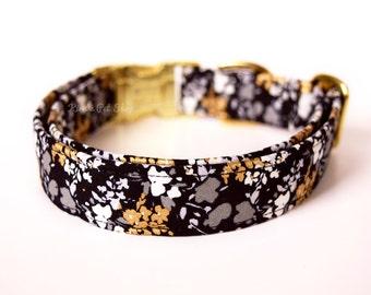 Gold Floral Dog Collar, Wedding Dog Collar, Designer Dog Accessories, Pet Accessories, Adjustable Collar, Formal Dog Collar, Wedding Attire