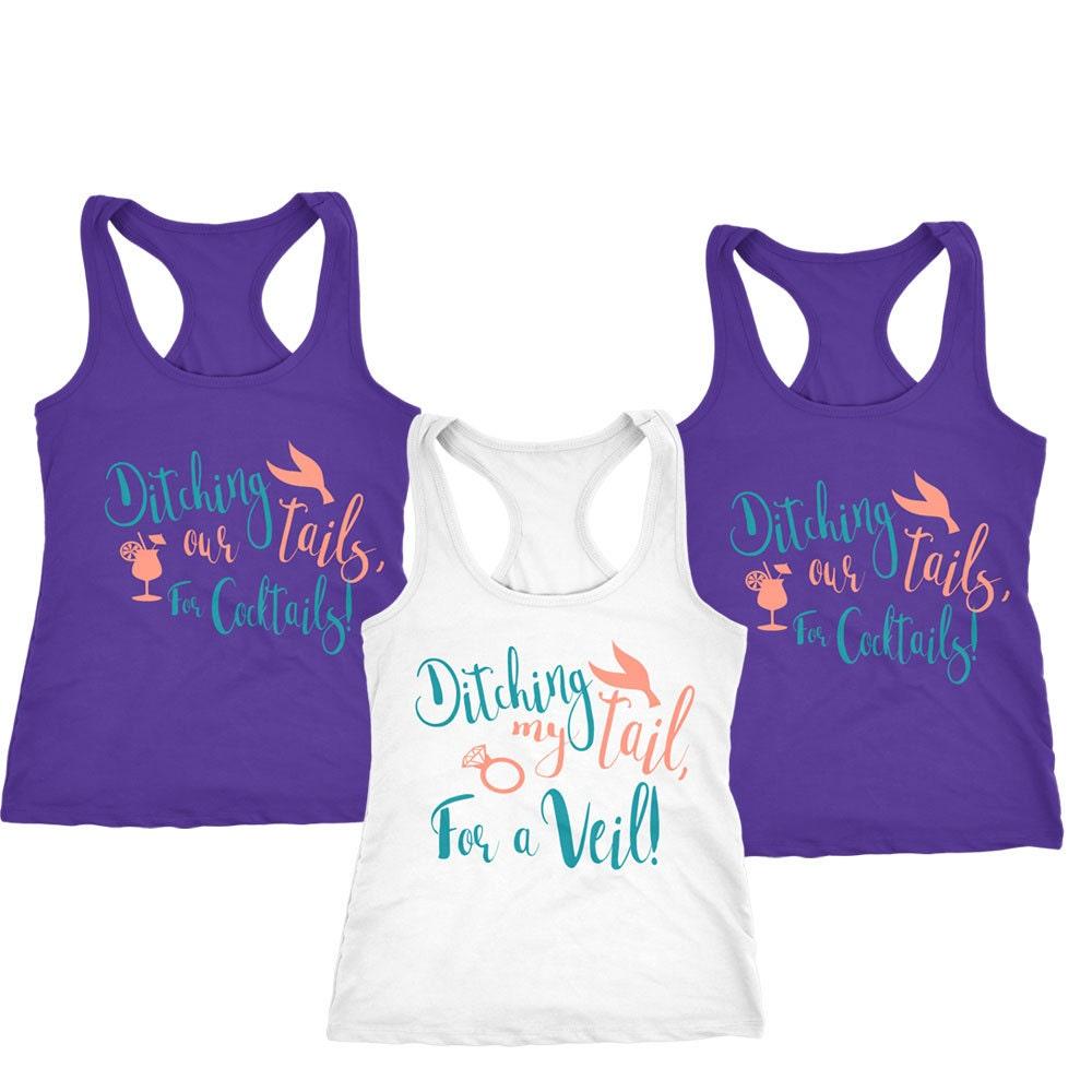 Mermaid Tank Tops Mermaid Shirts Bridesmaid Shirt
