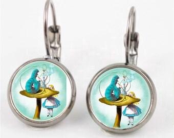 Vintage Alice in Wonderland Earrings or Ring