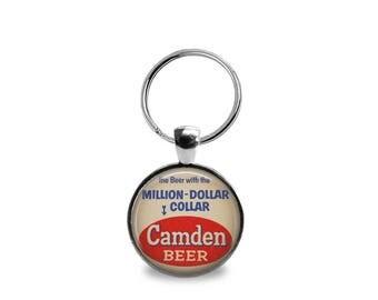 Vintage Camden Beer Key Chain