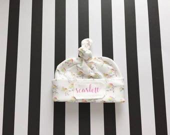Baby Name Hat - Personalized Baby Hat - Name Beanie - Newborn Hat -  Newborn Cap - Baby Shower Gift - Hospital Hat - New Baby Gift