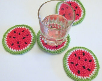 Watermelon Coasters PDF Crochet Pattern INSTANT DOWNLOAD