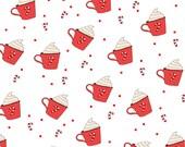 Candy Cane Hot Chocolate 12×12 scrapbook paper