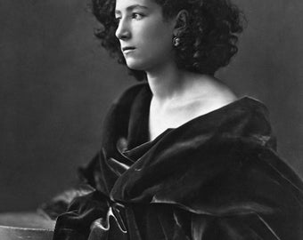 French actress Sarah Bernhardt (1844-1923) around 1864, 1800's, France Photo