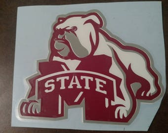 Mississippi State Bulldogs football decal, Mississippi state decal, Mississippi state yeti decal