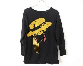 MEDIUM Vintage 1980s Italia Double-Lined (Fashion Cut) Long Sleeve Shirt