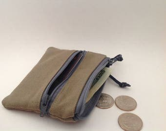 3 zips pouch, 3 zip wallet pouch, 3 pockets credit card wallet,  3 pockets wallet, 3 zips coin purse, pocket size canvas wallet,