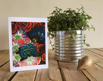 Flowers - Handmade card