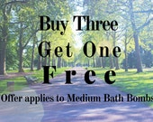 Buy 3 Medium Bath Bombs Get 1 Free! Handmade Artisan Bath Fizzy Homemade Bath Bomb Handcrafted Clearance Bath Fizzies Gift for Her BOGO Sale