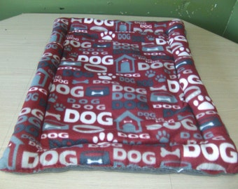 fleece dog mat, dog crate mat, pet bed, custom order, high sides pet bed, made to order
