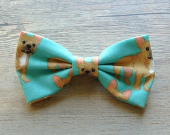 Pugs, Pugs Bow Tie, Dog Bow Tie, Puppy Bow, Animal Bow, Kids Bow Tie, Hairbow, Mens Bow Tie, Toddler Bow Tie, Hair Accessories