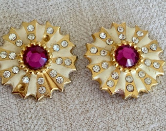 SALE!!! Vintage rhinestone earrings