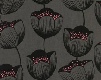 Pre-Sale- Magic Tulip in Grey -Rayon- Magic Forest -Sarah Watts for Cotton + Steel