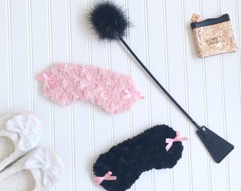 Black bow Sleep mask blindfold Honeymoon gift