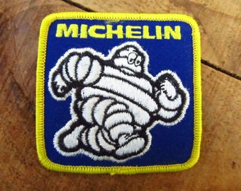 Vintage New Old Stock Michelin Man Patch - Michelin Tire Patch - 1970's Michelin Man Patch