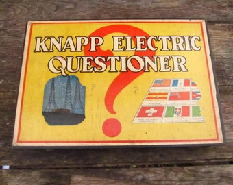 Vintage Knapp Electric Questioner - 1920's Electric Question Game