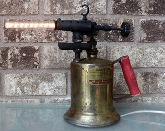 Vintage Blow Torch Lamp - Industrial Lighting - Man Cave Decor