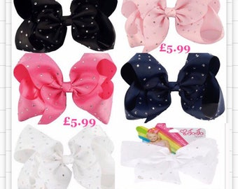 Not a JOJO SIWA Hair clip x 1 HANDMADE with large bow. Add a name for free.