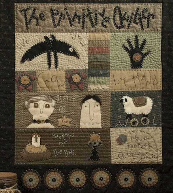 Pattern: The Primitive Quilter Wool Applique Wall Quilt Pattern by ... : wool quilt patterns - Adamdwight.com