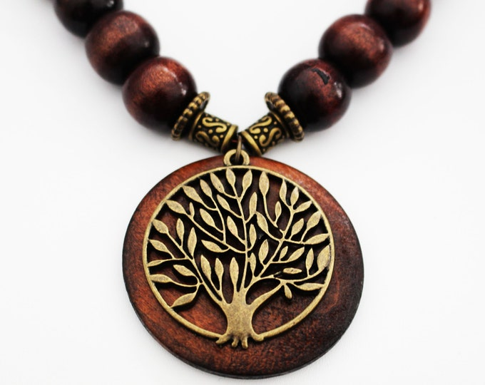 Featured listing image: Tree of LIfe Boho Necklace