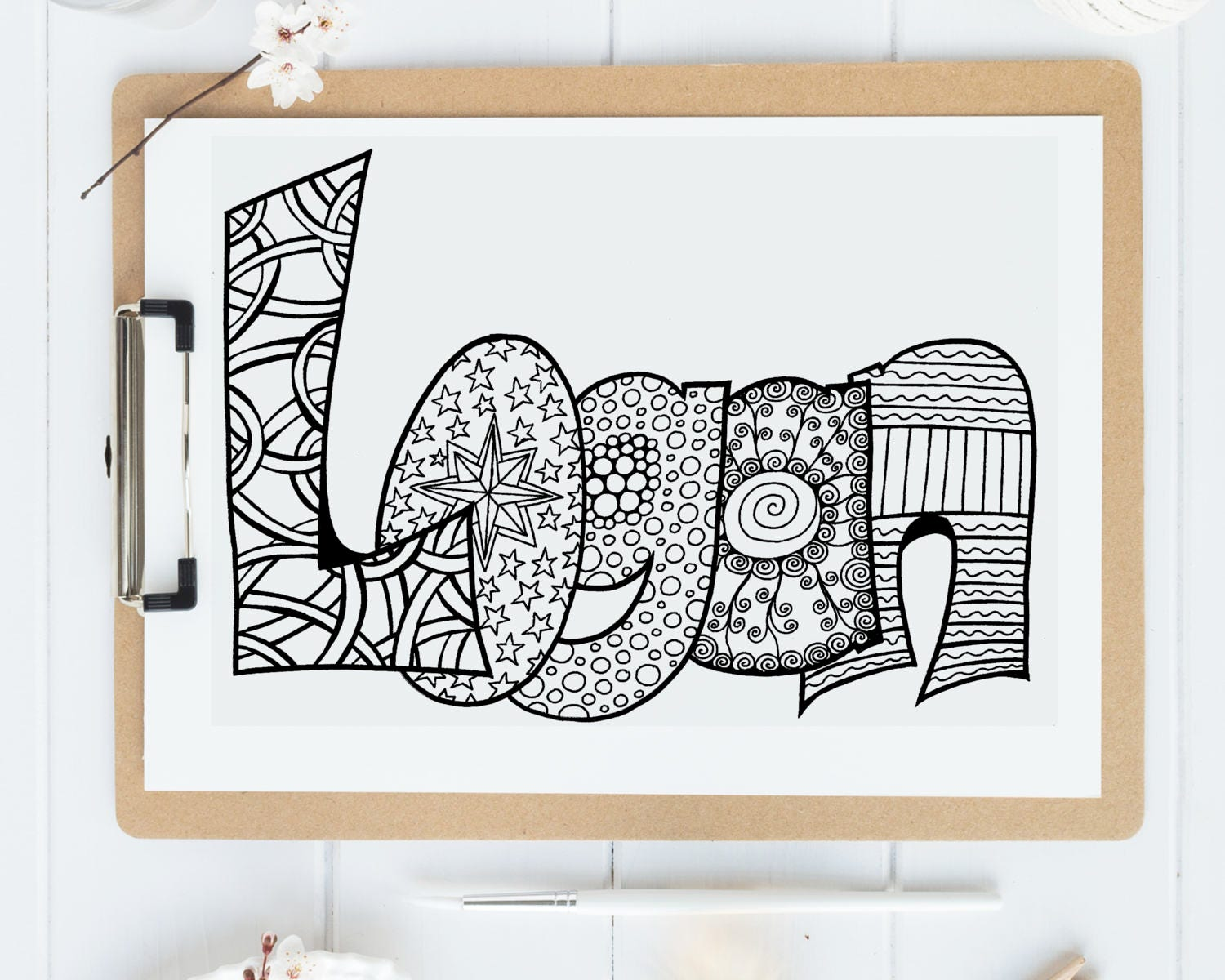 Color Your Name LOGAN Printable Coloring Pages For Kids