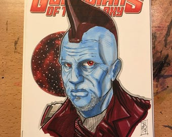"""Marvel Comics """"Guardians of the Galaxy"""" Sketch Cover variant with sketch by artist Tom Hodges"""