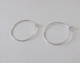 wine glass charms - 25mm -hoop earrings - jewelry supplies - silver - wedding  accessories - housewarming gifts - diy crafts