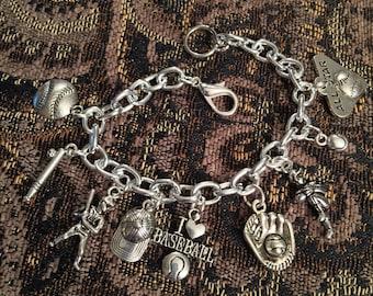 Baseball charm bracelet