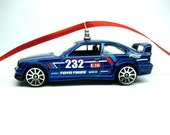 BMW E36 M3 Race Car Christmas Tree Ornament