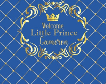 Royal Prince baby shower - First Birthday Party for boys, Royal Blue banner, Royal Prince Theme, Christening, Prop for party